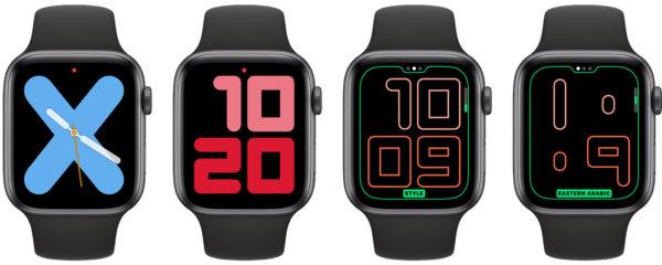 Одно- и двухцифровой циферблаты в WatchOS 6