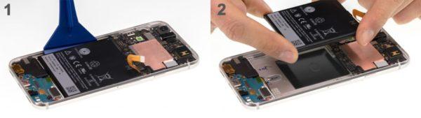 Замена аккумулятора в Google Pixel - шаг 5
