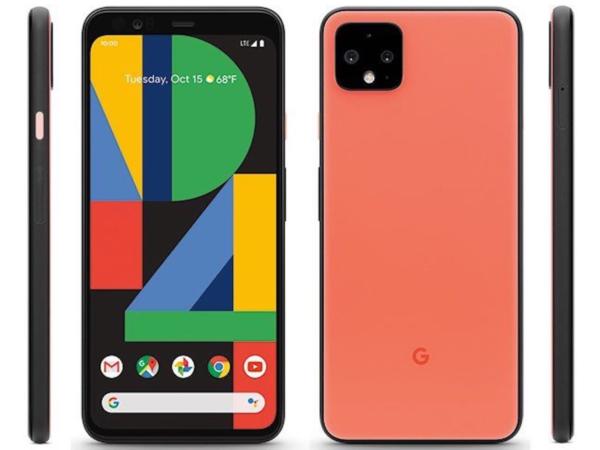 Google Pixel 4 - вид спереди и сзади