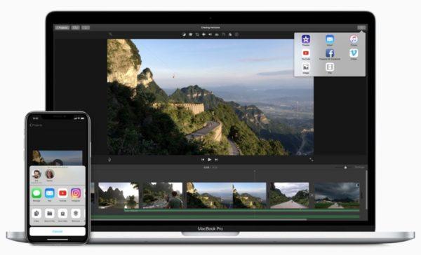 Видеоредактор Apple iMovie для MacBook