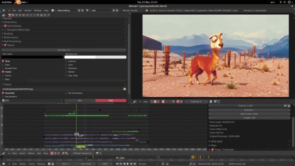 Видеоредактор Blender для MacBook