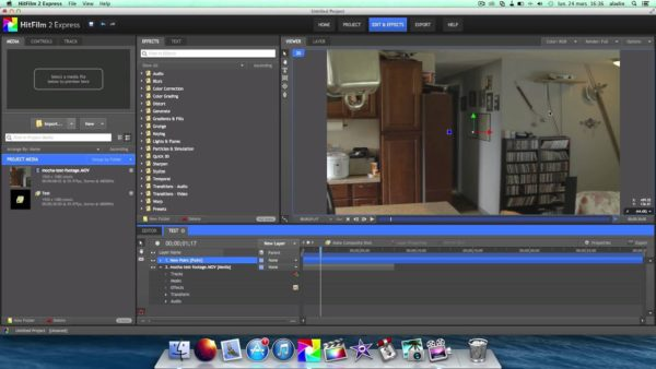 Видеоредактор Hitfilm Express для MacBook