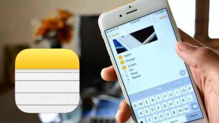 Приложение «Заметки» на iPhone
