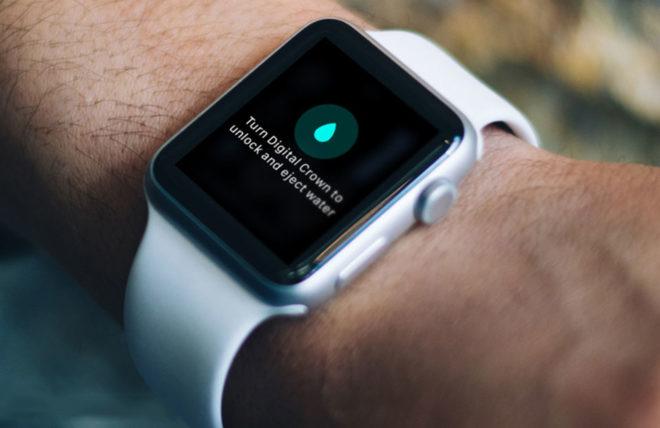 Значок с каплей на экране Apple Watch
