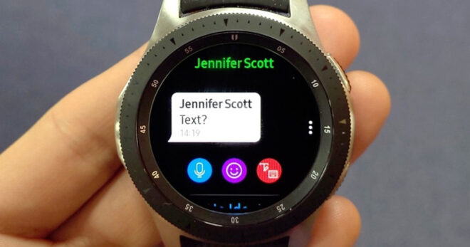 WhatsApp на Samsung Galaxy Watch