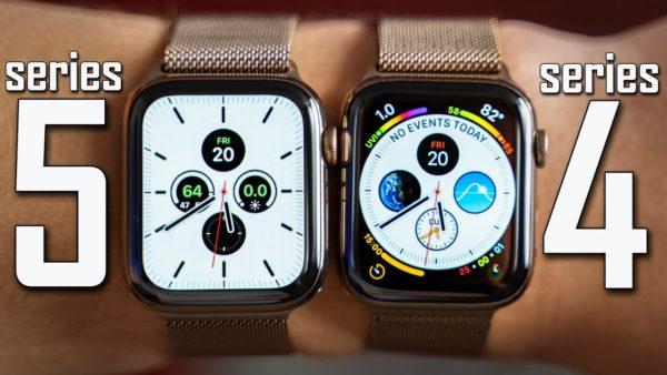 Сравнение Apple Watch 4 и 5 серии