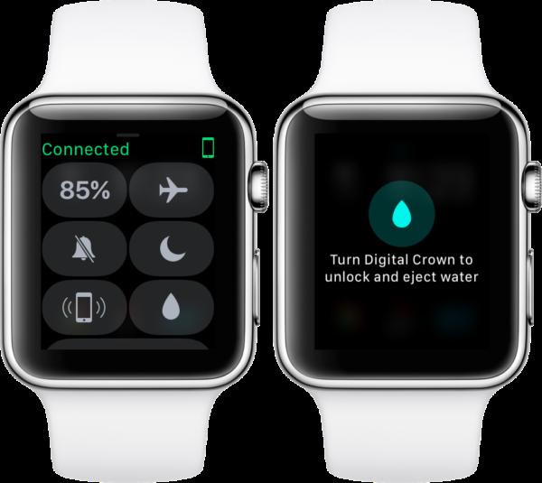 Режим блокировки воды в Apple Watch