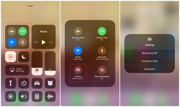 Синхронизация iPhone и iPad с помощью AirDrop - шаг 1