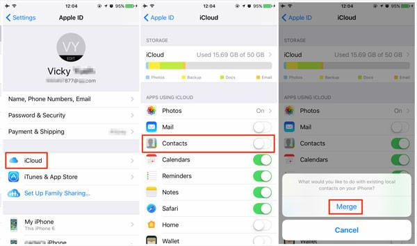 Синхронизация iPhone и iPad с помощью iCloud