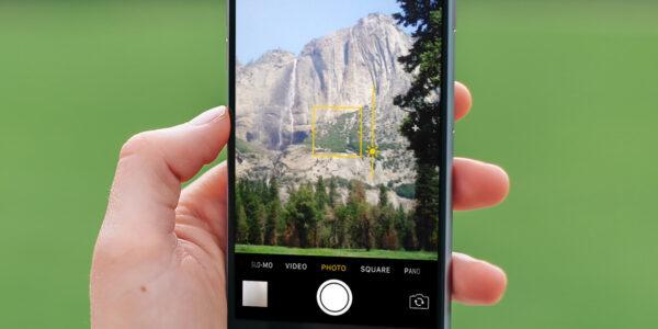 фокусировка камеры на iOS-14