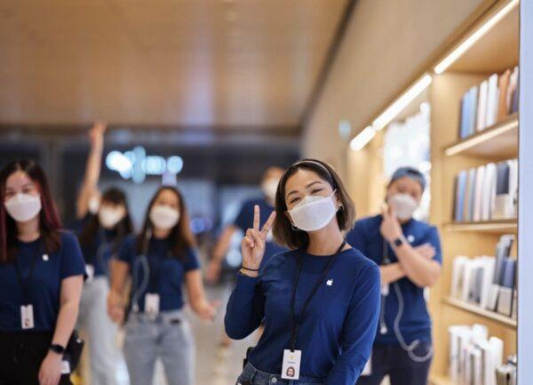 Apple разработала защитные маски для сотрудников