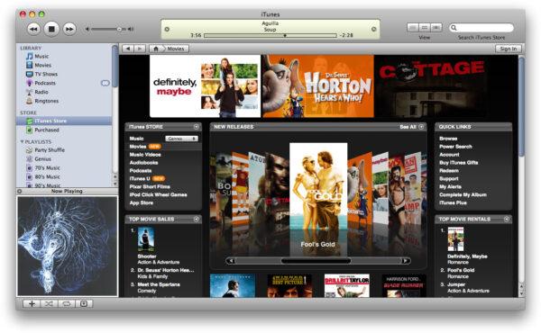 iTunes онлайн кинотеатры