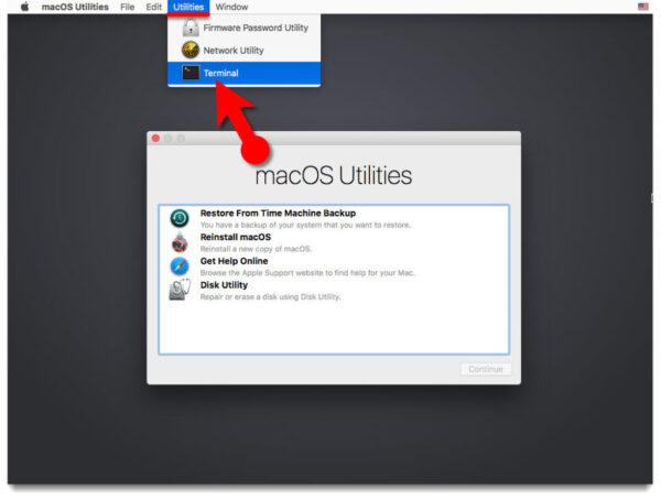Сброс кода через восстановление Mac