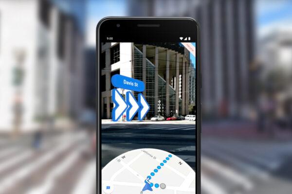 AR-режим в Google Maps