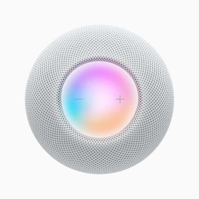 Сенсорная поверхность на верхней стороне HomePod mini